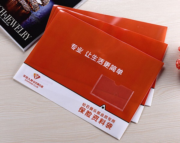 保单资料袋LOGO印刷透明文件袋定制档案袋