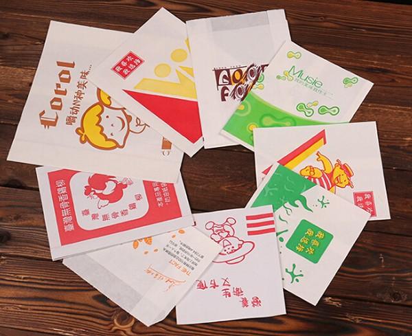 小吃袋防油纸薯条袋鸡柳袋美味食品袋定制