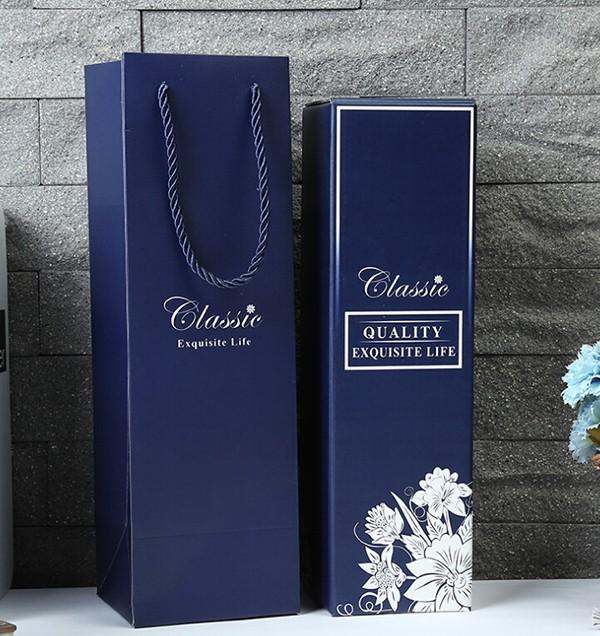 红酒礼盒套装白卡瓦楞礼盒红酒手提袋彩箱
