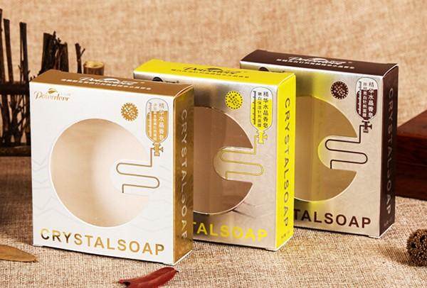 香皂白卡盒烫金