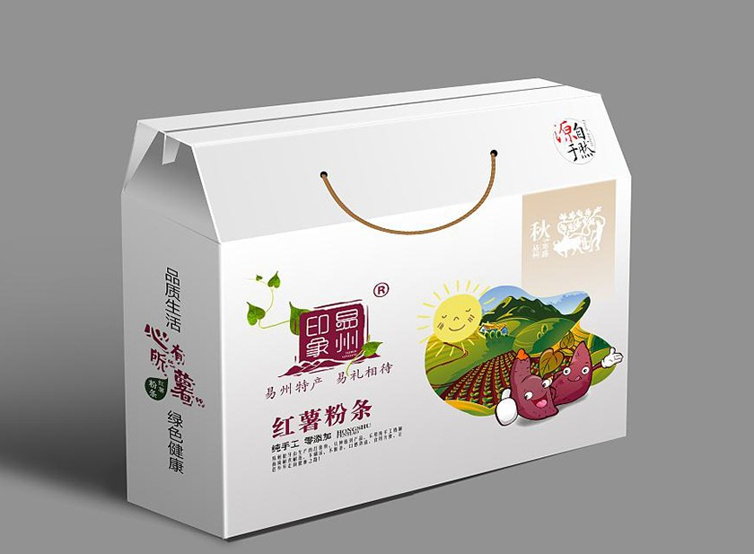 红薯 粉条 彩箱 提盒